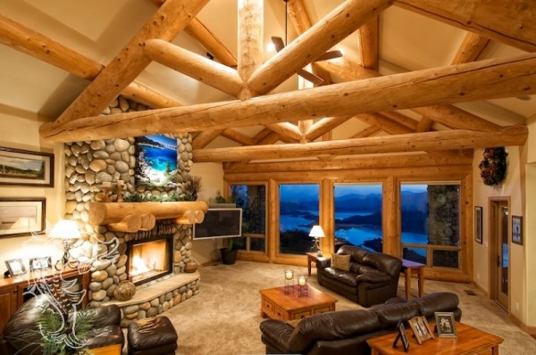 Shasta lake vacation rental luxury log cabin mountain retreat for Mount shasta cabins for rent